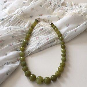 Jay King Jasper Jade Stone Silver 9.25 Necklace